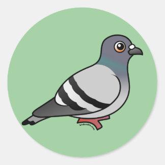 Cute Rock Pigeon Stickers