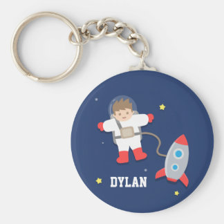 Cute Rocket Ship Outer Space Astronaut For Kids Keychain
