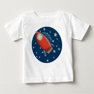 Cute Rocket & Stars Baby T-Shirts