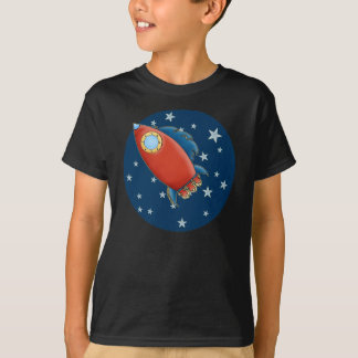 Cute Rocket & Stars Boy's T-Shirts