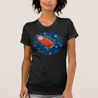 Cute Rocket & Stars Ladies T-Shirts
