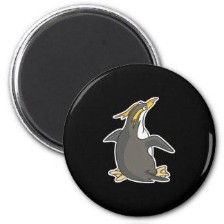 cute rockhopper penguin 2 inch round magnet