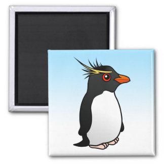 Cute Rockhopper Penguin 2 Inch Square Magnet