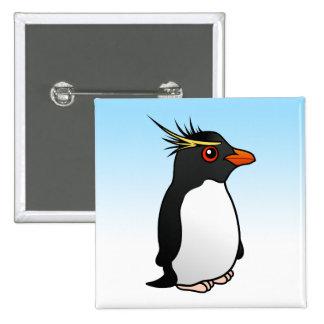 Cute Rockhopper Penguin Button