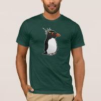 Rockhopper Penguin Men's Basic American Apparel T-Shirt