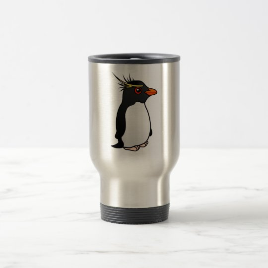 Cute Rockhopper Penguin Travel Mug