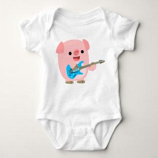 Cute Rockin' Cartoon  Pig Baby Clothing Baby Bodysuit
