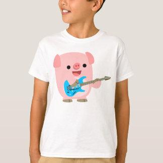 Cute Rockin' Cartoon  Pig Children T-Shirt