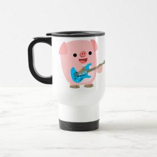 Cute Rockin' Cartoon  Pig Commuter Mug