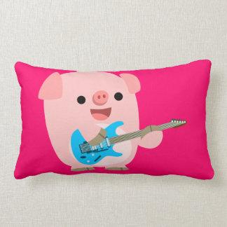 Cute Rockin' Cartoon  Pig Pillow