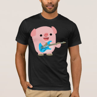 Cute Rockin' Cartoon  Pig T-Shirt