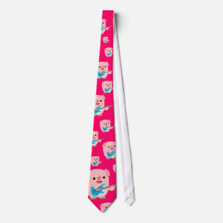 Cute Rockin' Cartoon  Pig Tie