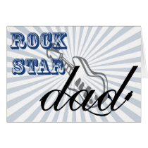 cute rockstar Dad, Father's Day greetings Card