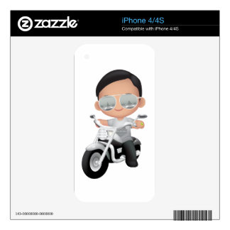 Cute RockStar on Motorcycle Decals For The iPhone 4