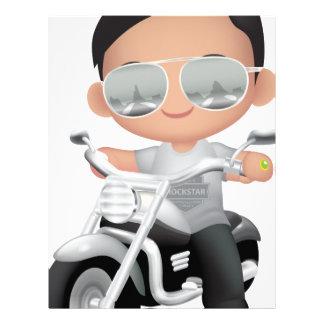 Cute RockStar on Motorcycle Letterhead