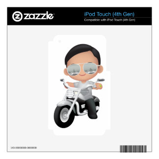 Cute RockStar on Motorcycle Skin For iPod Touch 4G