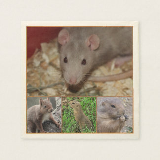 cute rodents disposable napkins