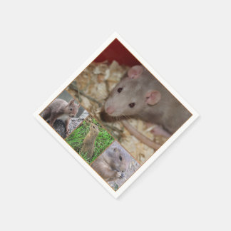 cute rodents disposable napkin