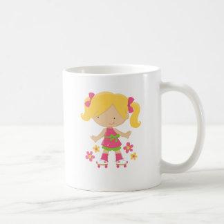 Cute Roller Skating Girl on Skates Gift Coffee Mug