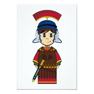 Cute Roman Soldier RSVP Card