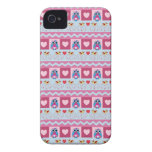 Cute romantic case with love birds, hearts & owls iPhone 4 cases