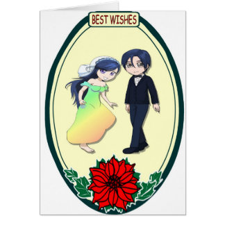 Cute romantic couple, Best Wishes Card