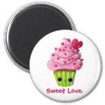 Cute Romantic Cupcake Magnet