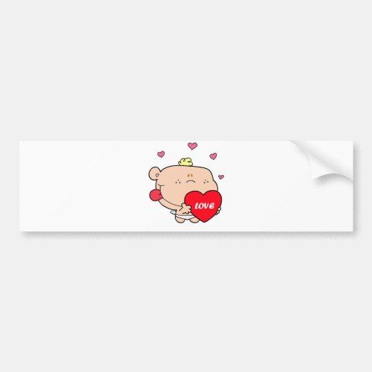 Cute Romantic Cupid Love Baby Boy Bumper Sticker