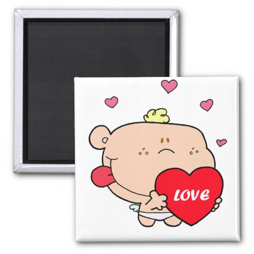 Cute Romantic Cupid Love Baby Boy Magnets