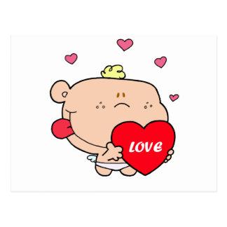 Cute Romantic Cupid Love Baby Boy Postcard