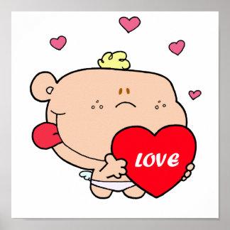 Cute Romantic Cupid Love Baby Boy Poster