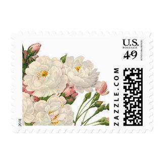Cute romantic floral postage