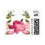 Cute romantic floral stamps