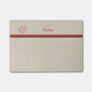 Cute romantic gentle rose personalized post-it® notes