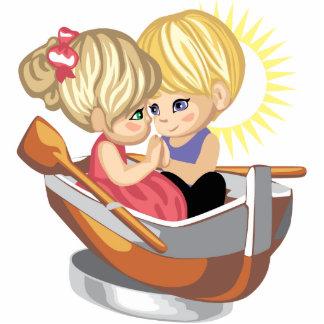 Cute Romantic Kids Magnet Photo Cut Out