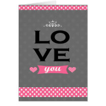 romance, love, romantic, lover, feeling, dots, chic, cute, girly, elegant, retro, classic, vintage, couple, Card with custom graphic design