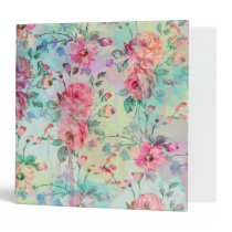 Cute romantic roses floral paint watercolors binder