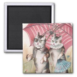 Cute Romantic Victorian Cats Magnet