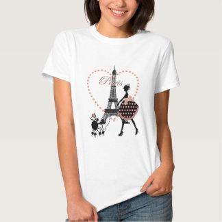 Cute romantic vintage girl silhouette walking tee shirt