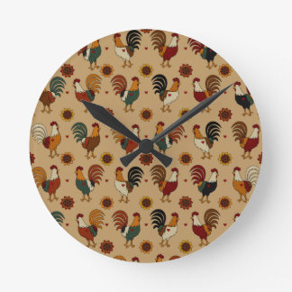 Cute Rooster Wall Clock