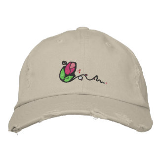 Cute Rose Bud Design Hat