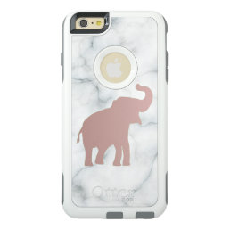 cute rose gold elephant on marble OtterBox iPhone 6/6s plus case
