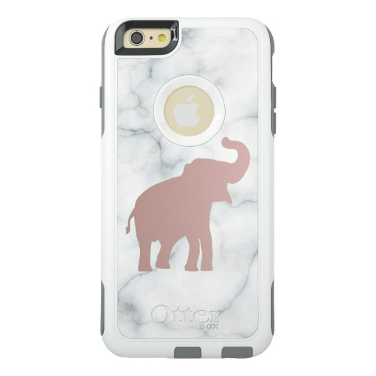 free shipping 3e044 94dd4 cute rose gold elephant on marble OtterBox iPhone case