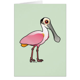 Cute Roseate Spoonbill Card