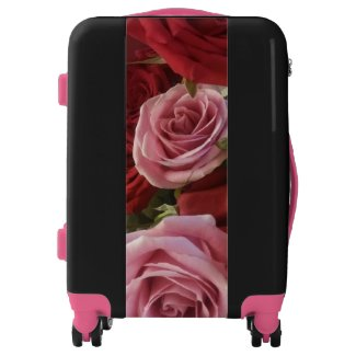 Roses Up Close Print Suitcase Luggage