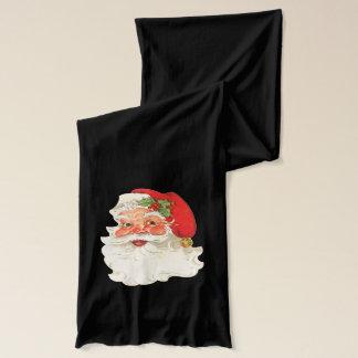 Cute Rosy Cheeks Retro Santa Scarf