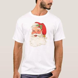 Cute Rosy Cheeks Retro Santa T-Shirt