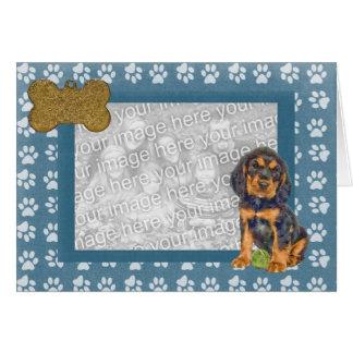 Cute Rottie Puppy Photo Frame Card