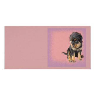 Cute Rottweiler Birthday Photo Card