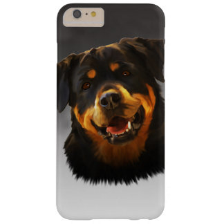 Cute Rottweiler Dog Water Color Art Portrait Barely There iPhone 6 Plus Case